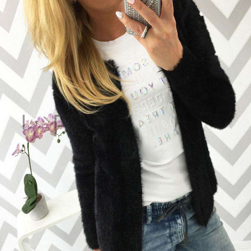 S-3XL Autumn Winter Warm Plus Size Women Open Stitch Sweater Coat Cardigans Long Sleeve Solid Color Casual Top Outerwear Jackets