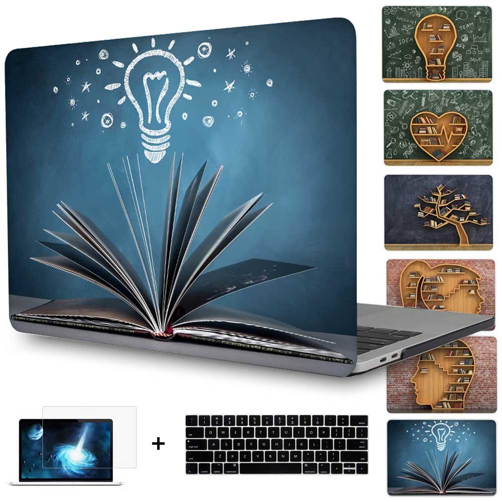 Prix pour 2016 Date Octobre Pro 13 pouce A1706/A1708 Couverture Creative étagère mallette pour ordinateur portable pour Macbook Pro 15 pouces A1707 touchbar Cas Shell
