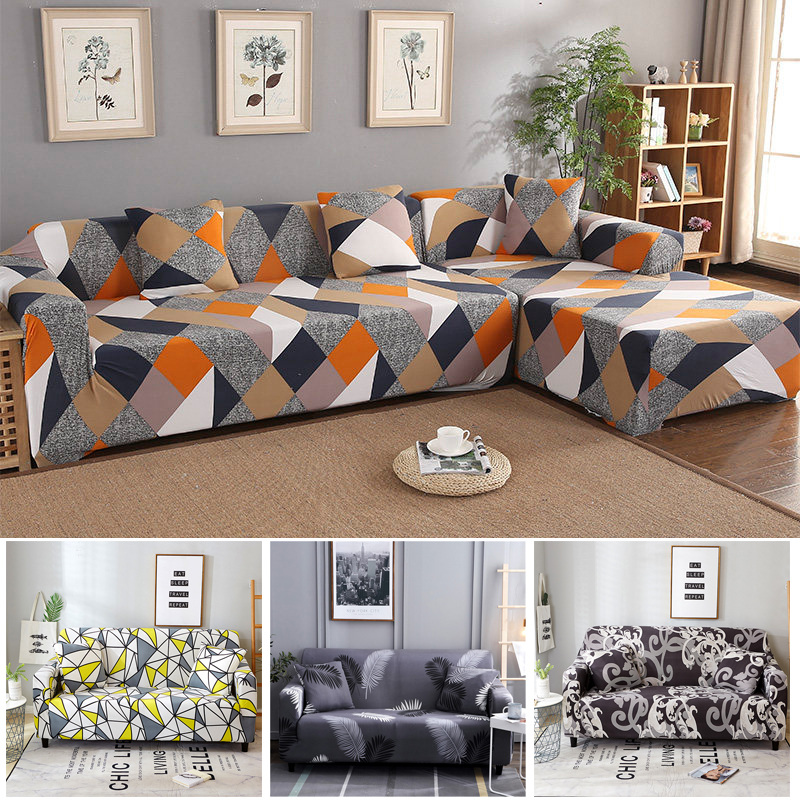 Corner Sofa Covers For Pets Living Room Furniture Protector Cubre Sofa Single Armchair Slipcovers Elastic Stretch Sectional Sofa