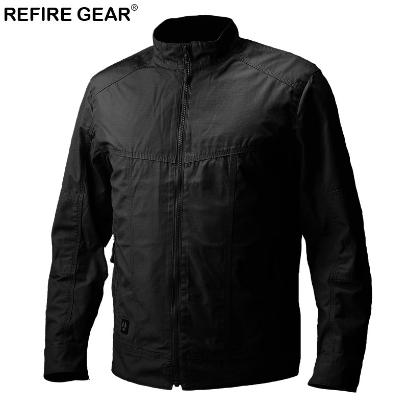 ReFire Gear Waterproof Outdoor Slim Jacket Men Hiking Spring Autumn Camping Pilot Jacket Windbreaker Ripstop Airsoft Clothes