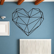 Geometric Heart Wall Stickers Vinyl Art Decals Removable Creative For Home Decor