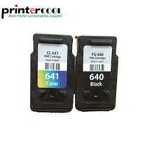 Einkshop 2PCS PG640 Ink Cartridge PG 640 CL 641 For canon Pixma MG2160 MG3160 MG4160 MX376 MX436 MX516 printer ink mbs pg 641 silver