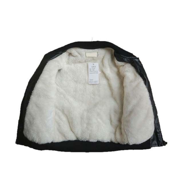 95dbc44b0883 Online Shop 2018 New Baby Leather Boy Jacket Fleece Jacket Boys Coats  Manteau Garcon Kids Jacket Black and Brown Color Children Jackets 4-16