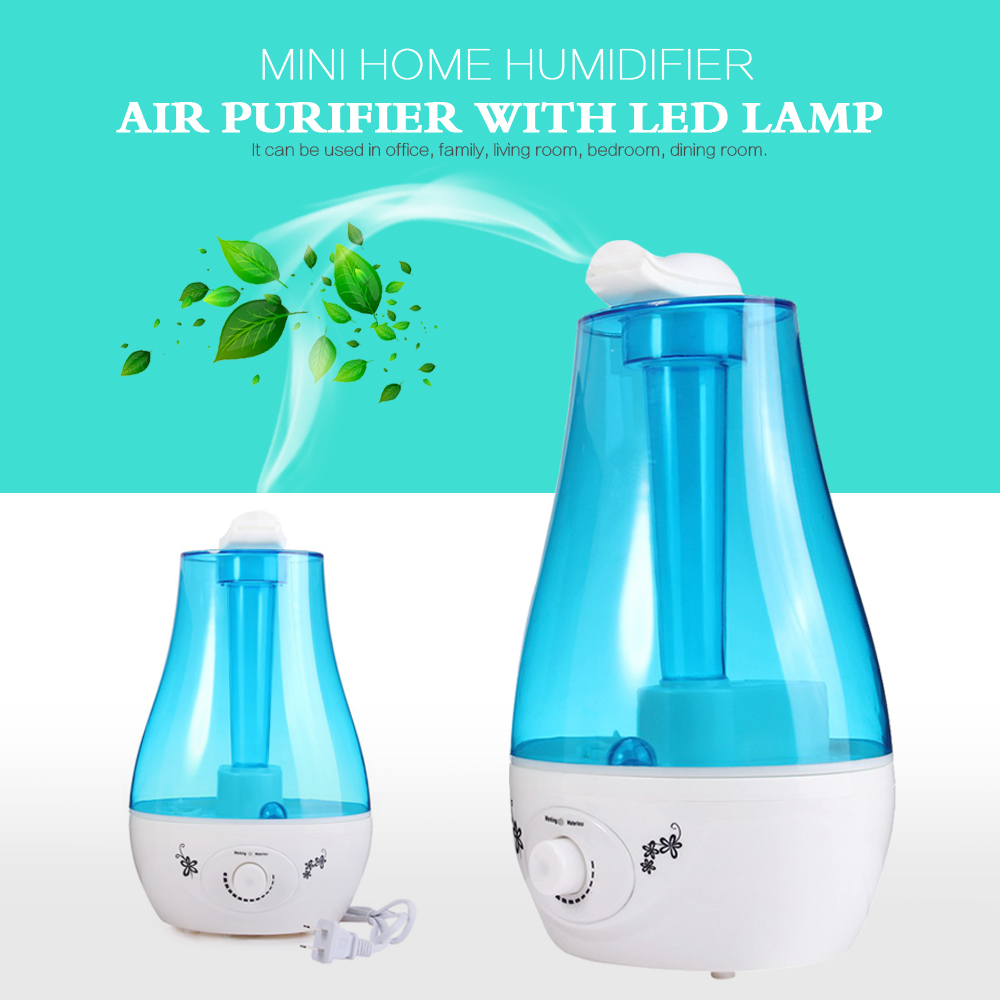 25W Tabletop 3L Water Bottle Mini Home Ultrasonic Humidifier font b Purifier b font with LED