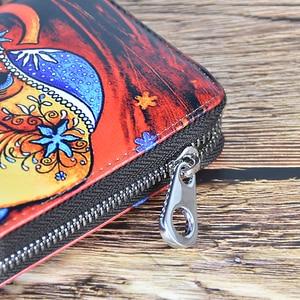 Image 3 - Dicihaya mulheres longas carteiras de impressão bolsa de moedas de couro senhora moneybags meninas estudantes bolsas embreagem carteira cartões titular sacos