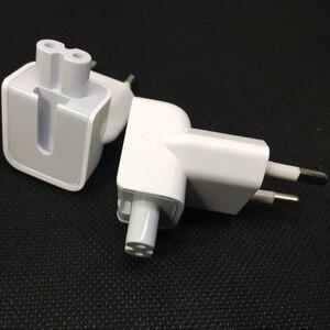 Image 5 - Parede genuína ac destacável cabo de alimentação euro elétrico plugue ue cabeça de pato para apple carregador usb adaptador de energia de transferência de notebook