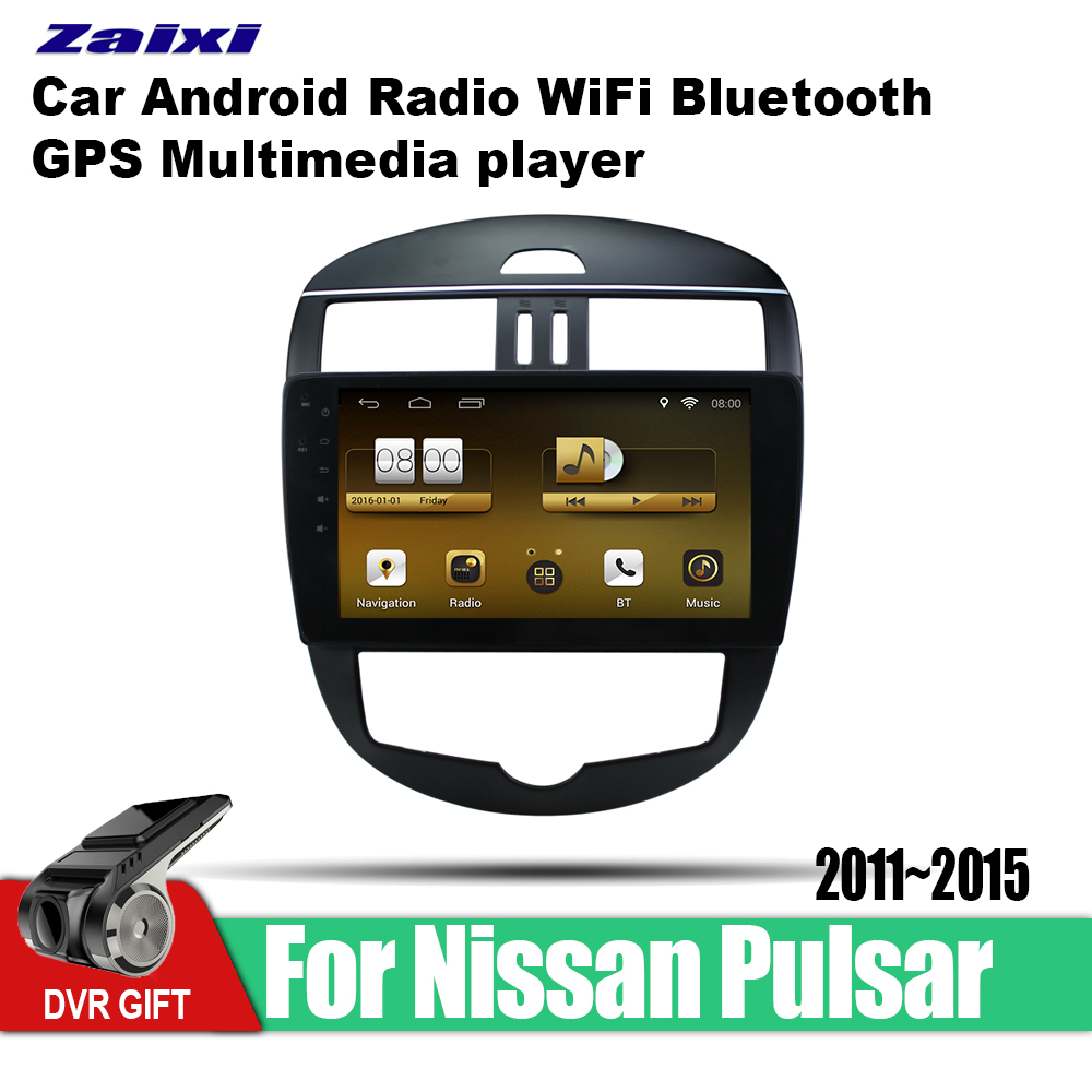 ZaiXi Android Car 2 din multimedia GPS Navigation For Nissan Pulsar 2011~2015 vedio stereo Radio audio wifi video map video