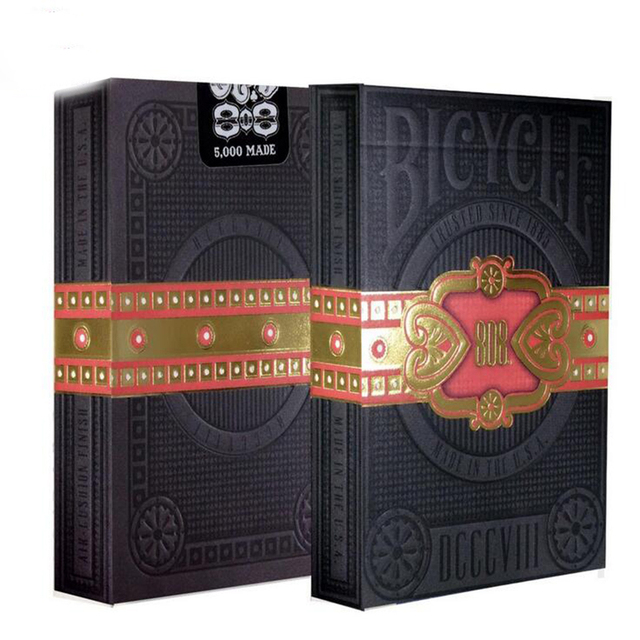 1 Deck Bicycle Cigar Club 808  Playing Cards black  Magic Deck Magia Props Magic Tricks 81289