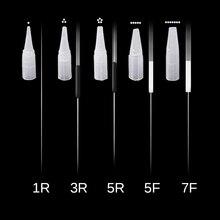 50 шт. разделенные иглы для татуажа и наконечники для перманентного макияжа микроблейдинг машина для татуажа бровей ручка навсегда принадлежности для татуажа