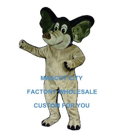 Горячая Распродажа светло серый боевой маскарадный костюм слона взрослый размер мультяшный персонаж маскотта костюм маскота костюм необы