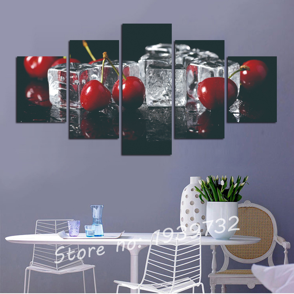 Popular fruit wall decor buy cheap fruit wall decor lots - Kitchen canvas wall decor ...