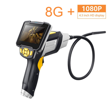1080P 3M 4.3 Inch Pipe Inspection Industrial Endoscope Cameral IP67 Waterproof Snake Tube Borescopes with 8G SD Card