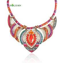 38c5c6254 Female vintage choker pendants&necklaces big boho necklaces ethnic bohemian  jewelry statement tribal orange bijoux femme mujer