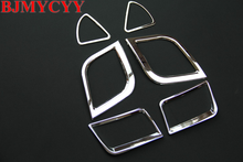 BJMYCYY 6PCS Car air conditioning outlet ABS chrome Accessories For Hyundai i25 Solaris Verna Accent Sedan