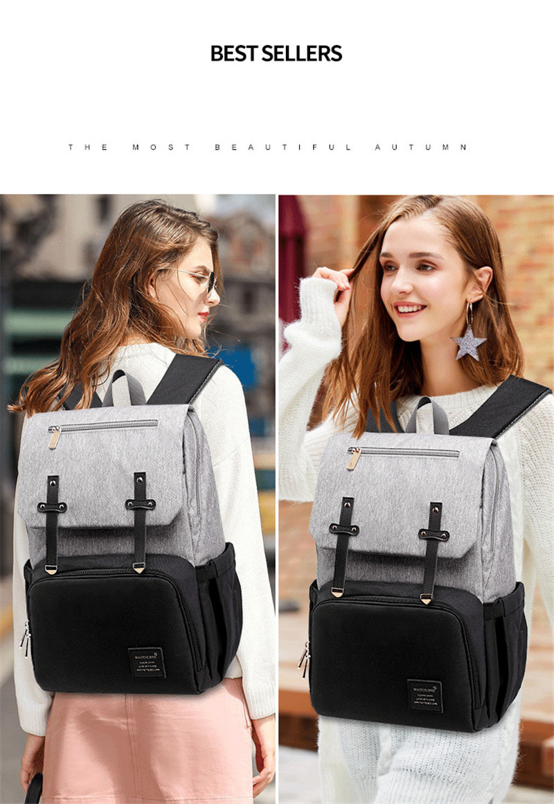 HTB1thNSaJzvK1RkSnfoq6zMwVXa6 New Fashion Women Backpack With USB Mummy Daddy Outdoor Travel Diaper Bags Pure Large Waterproof Nursing Bag Baby Care Nappy Bag