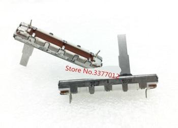 5 unids/lote interruptor 4,5 cm potenciómetro de deslizamiento recto solo W50K con longitud del eje medio 20mm mezclador fader 45mm