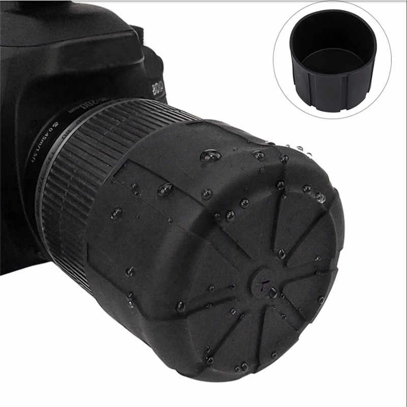 Waterproof Universal Anti-Dust Fallproof SLR Camera Silicone Protector Front Lens Cap Cover Canon Nikon DSLR Olypums Protective