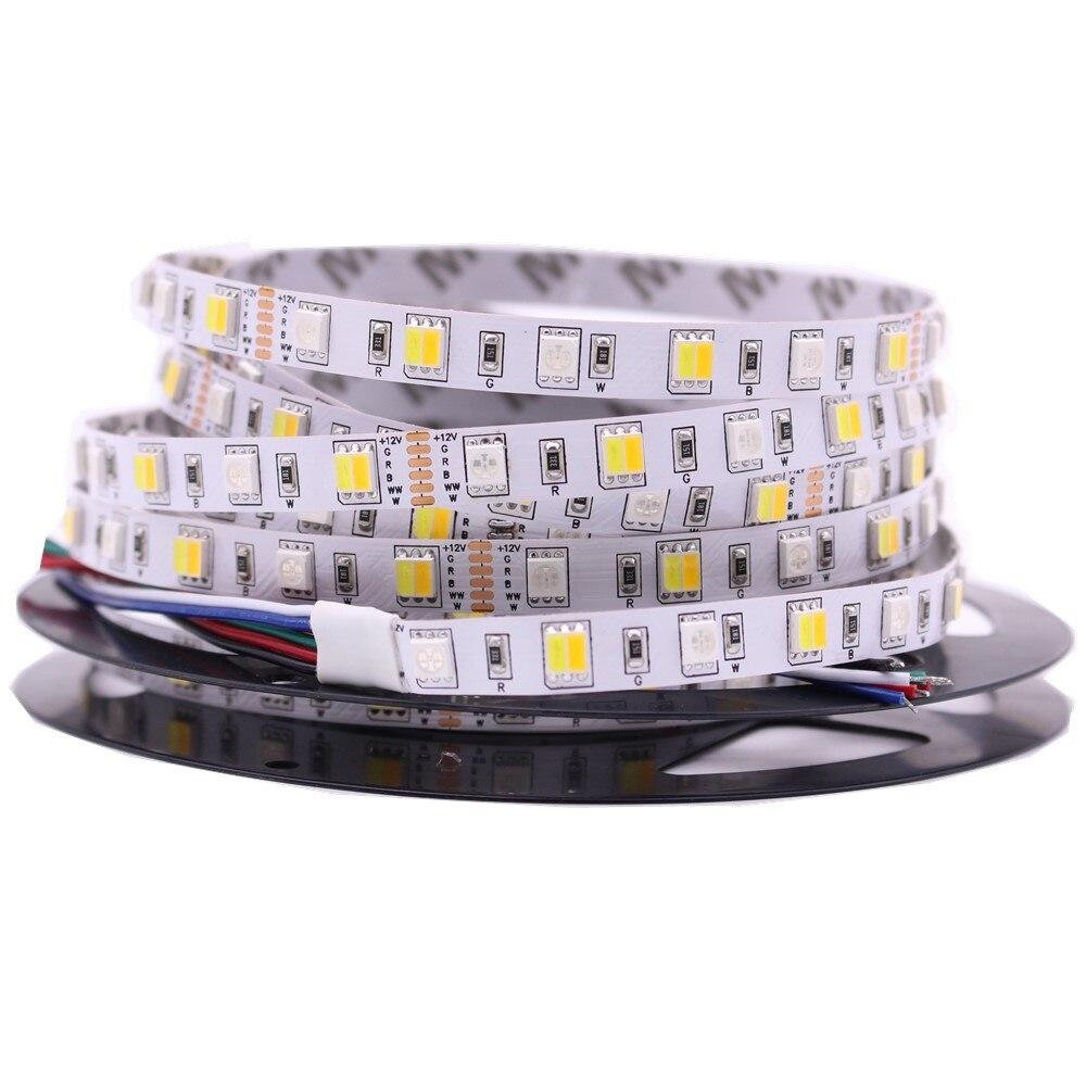 Tira de luces LED de 5M RGB CCT RGBW 5050 SMD, tira de luces Led de barra no impermeable, tira de luces de decoración festiva de 12V 24V 6 unids/lote 54X3W/36x3w LED placa base par RGBW DC 12-36V placa base de presión constante 4/8CH accesorio de luz de escenario profesional