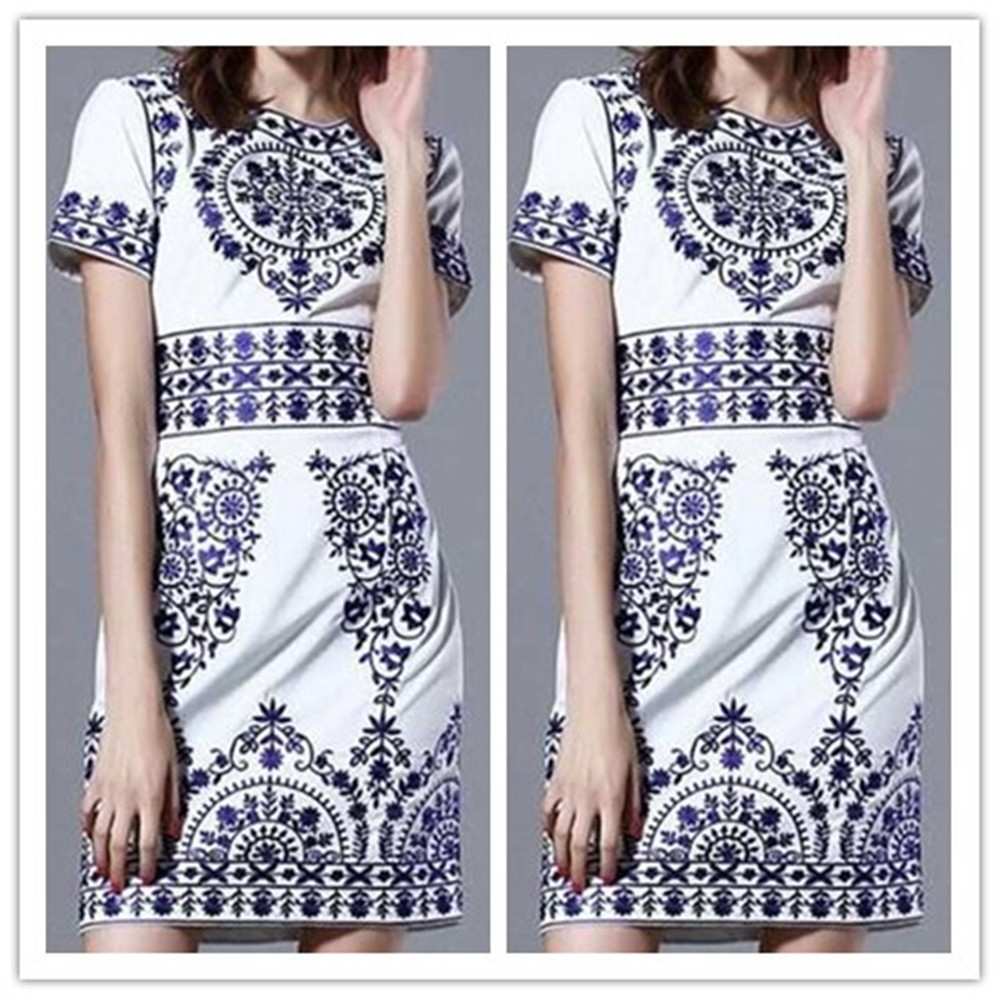 Hot Sale 2015 Summer Fashion Dress Women Dresess Plus Size vestidos Print Mini Summer St ...