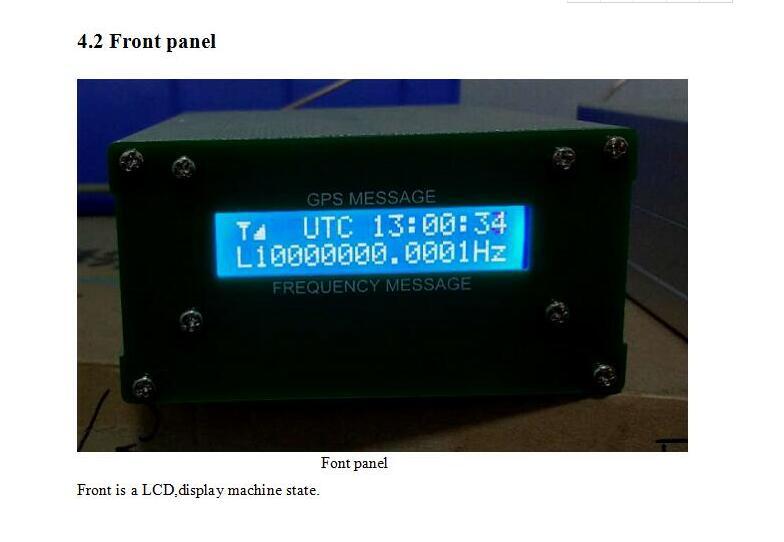 GPSDO شاشة خصم أحدث 2