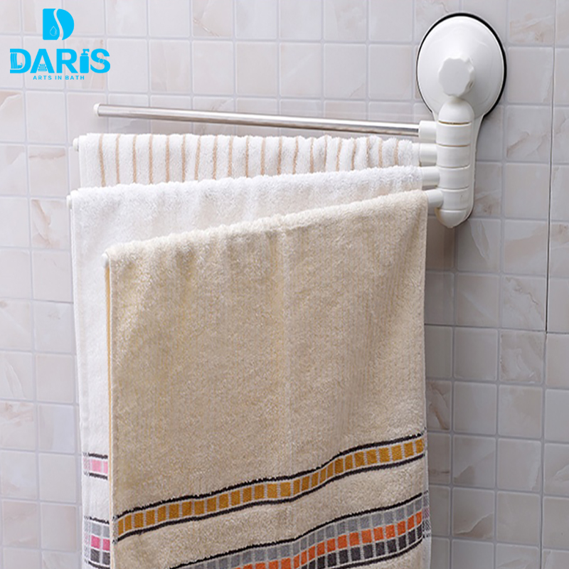 Daris no drill hook rotating towel rack bathroom - Bathroom towel holders accessories ...