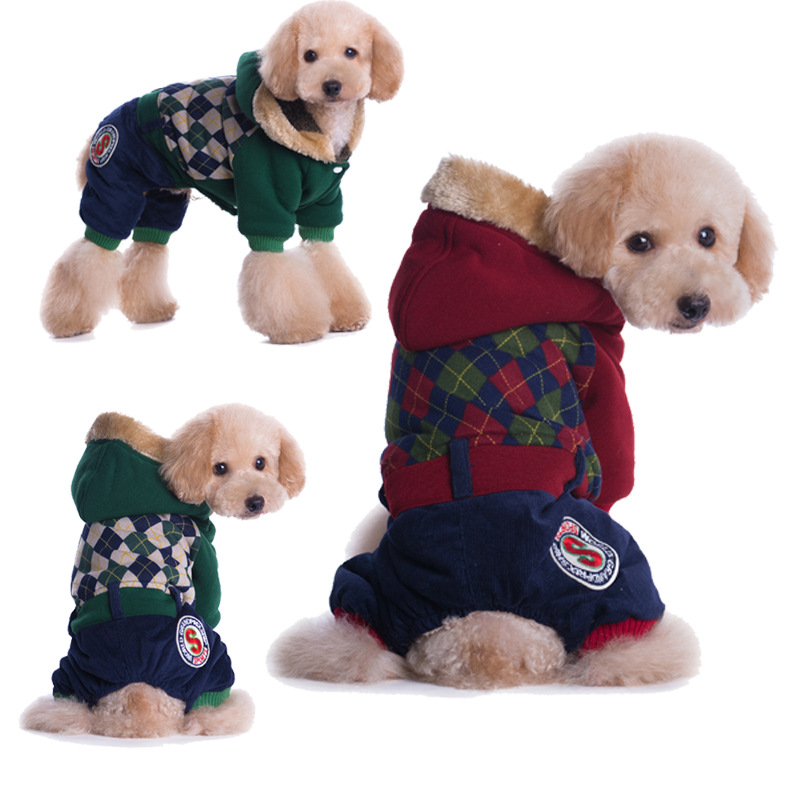 Plaid Pet dog clothes for small dogs jackets coats pet ...