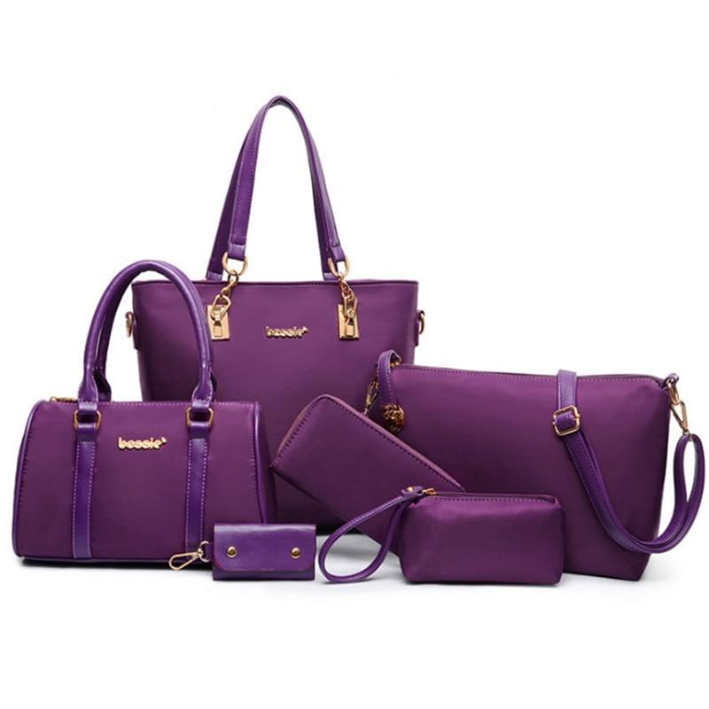New Casual Luxury Handbags Women Bags Designer Nylon Shoulder Bags Female Large Capacity Tote Messenger Bag 6 Sets/Pcs Women BagNew Casual Luxury Handbags Women Bags Designer Nylon Shoulder Bags Female Large Capacity Tote Messenger Bag 6 Sets/Pcs Women Bag