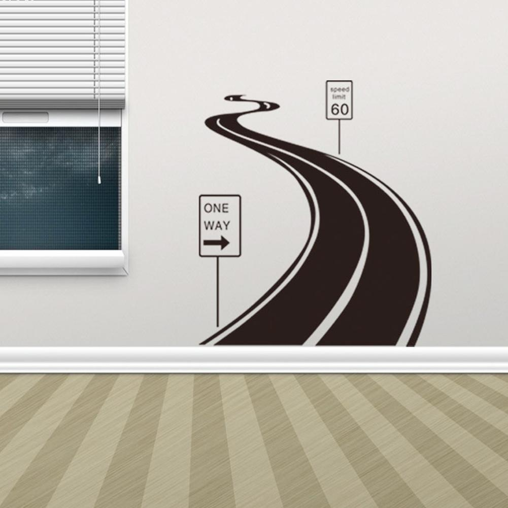 Home Wall Decals Road Street Highway Wall Sticker One Way Vinyl Wall Art Wall Poster Wall Decal Home Decor home decoration & Home Wall Decals Road Street Highway Walls Sticker One Way Vinyl Art ...