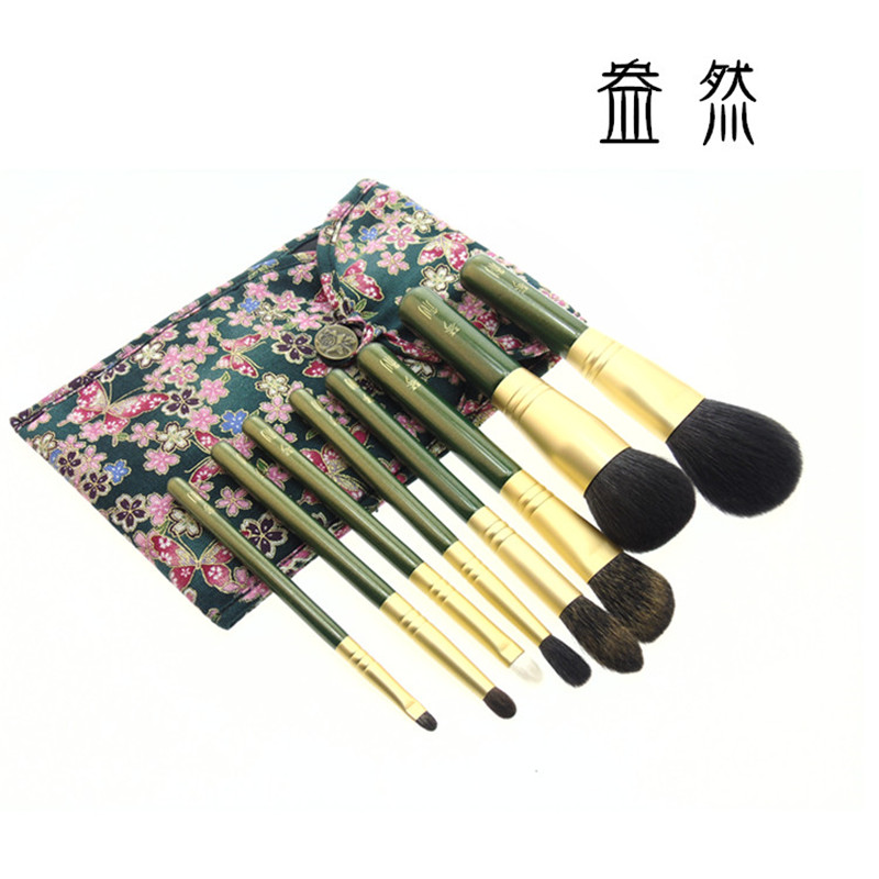 QinZhi 8pcs Handmade Makeup Brushes Set Goat Squirrel Horse Hair Make up Cosmetic Tools Powder Blush Eye Shadow Brush panda1 brand qinzhi 8pcs handmade makeup brushes set goat squirrel horse hair make up cosmetic tools powder blush eye shadow brush