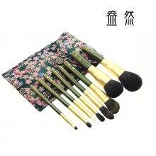 QinZhi 8 pcs Handmade Makeup Brushes Set Esquilo Cavalo Cabra Cabelos maquiagem Ferramentas de Cosméticos Escova de Blush Em Pó Da Sombra de Olho panda1