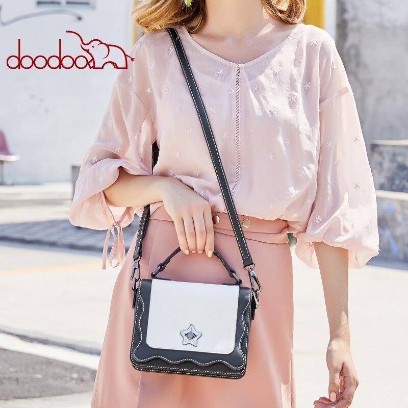 DOODOO กระเป๋าสตรีไหล่หญิง Crossbody กระเป๋าสุภาพสตรีหนังเทียมรูปแบบโมเสคน้ำคลื่น 2018 กระเป๋า Messenger-ใน กระเป๋าสะพายไหล่ จาก สัมภาระและกระเป๋า บน AliExpress - 11.11_สิบเอ็ด สิบเอ็ดวันคนโสด 2