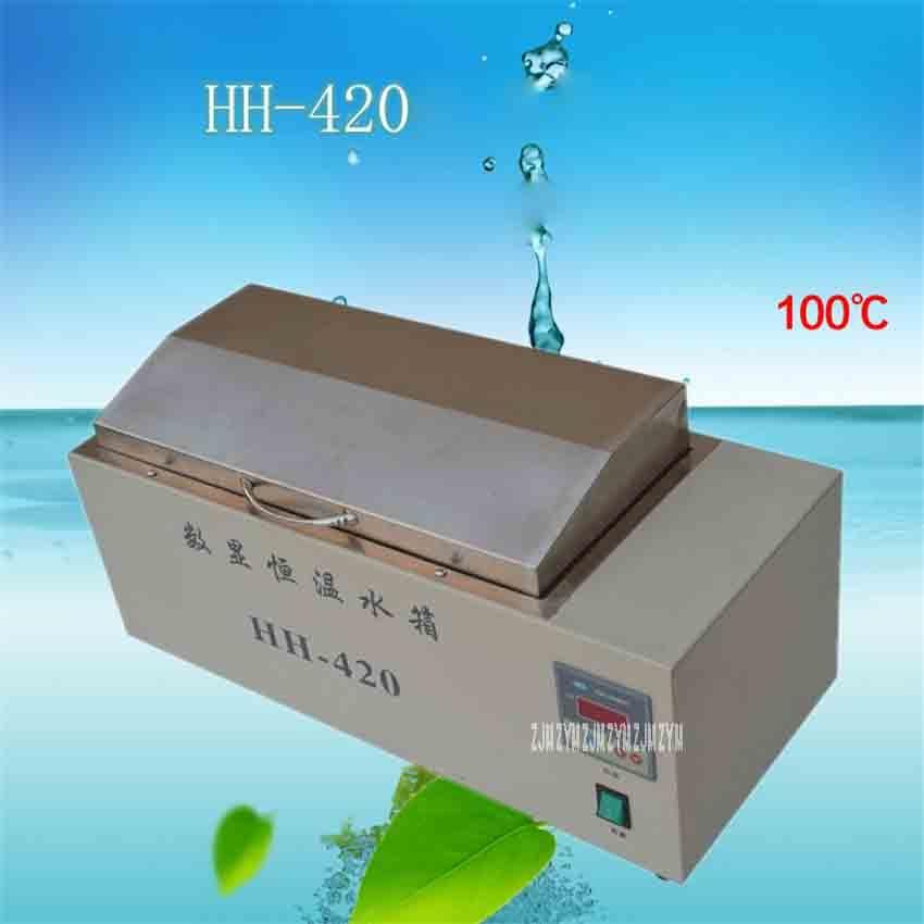 Großgeräte Hh-420 Digitalanzeige Konstante Temperatur Wassertank Elektroheizung Edelstahl Hohe Temperatur Desinfektion Wasserbad Desinfektion Schränke