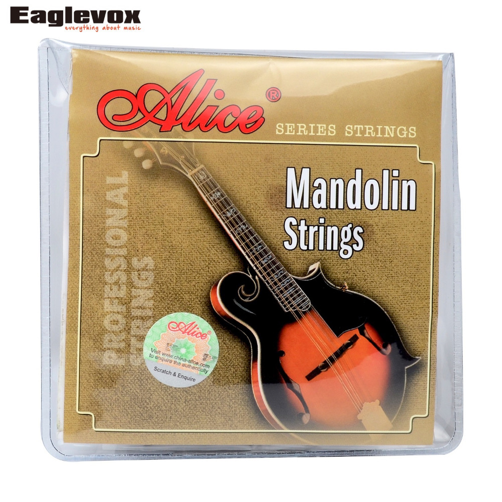 Mandolin Strings 0.011/0.040 inch Plated Steel 85/15 Bronze wound Alice AM05