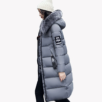 2017 Winter Women S New Casual Collar Cotton Long Slim Down Cotton Thickened Warm Winter Coats