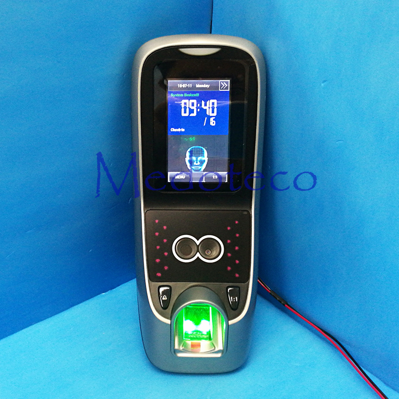 Contrôle d'accès professionnel de porte de contrôle d'accès de visage avec le lecteur d'empreinte digitale Iface 7 fréquentation de temps de visage Multibio700