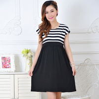 Sumer new Pregnant women dress casual maternity dress cotton women pregnant dresses Striped Women's Maternity Dress pius