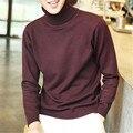 Мужская Твердые Белые Свитера Осень Зима Теплая Пуловеры Водолазки Вязанные Крючком Рождественский Подарок Slim Fit Masculina Camisetas