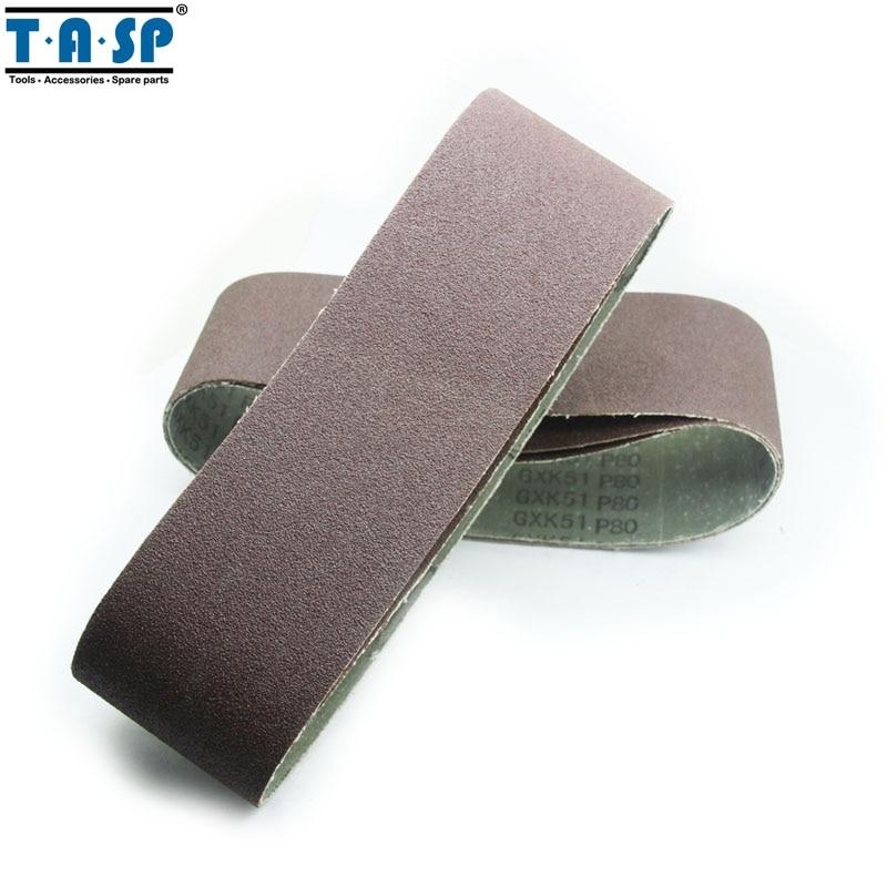 TASP 5pcs 75x533mm Aluminium Oxide Sanding Belt 3