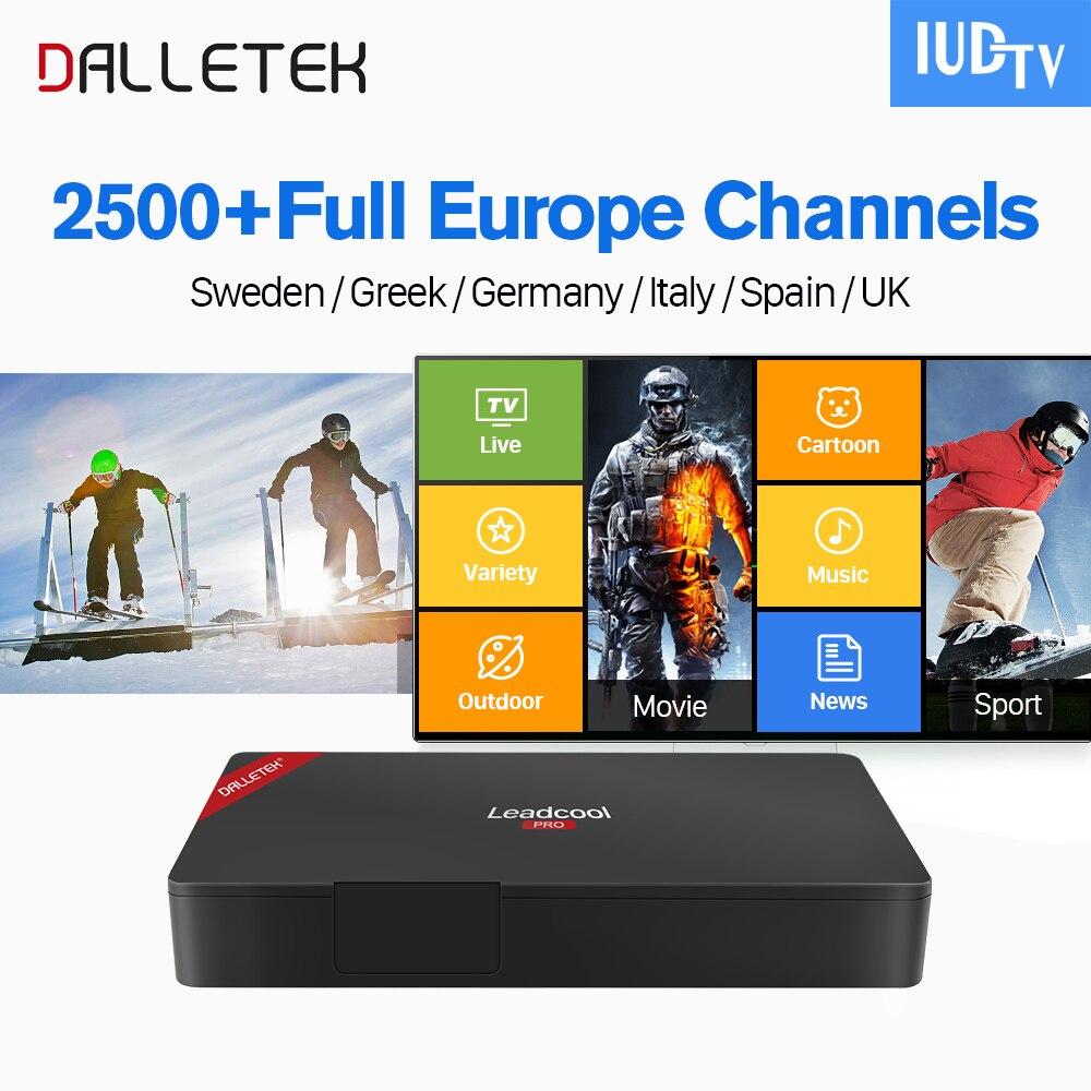 Здесь продается  IPTV Sweden Leadcool Pro Smart TV Box Android 6.0 2500+ IPTV 1 Year IUDTV Subscription Europe Italy Spain Netherlands IPTV Box  Бытовая электроника