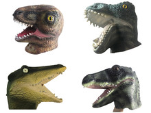 Horror Dinosaur Crocodile Mask Latex Animal Full Face Helmet Mask Halloween Party Cosplay Costume Masquerade Carnival Supplies цена и фото