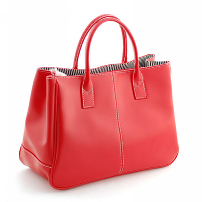 ladies new brand design candy color red yellow blue white pink black large capacity handbags casual totes real color for women 3 color red pink blue cherry cardigan coat