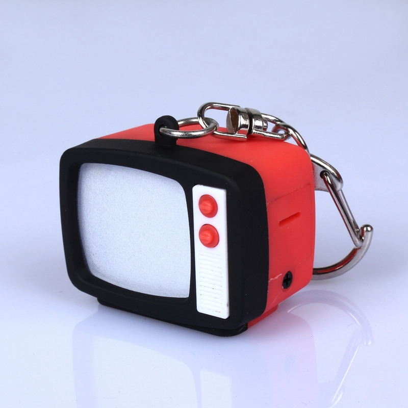5pcs/lot LED Light Torch Keychain, Luminescent And Sounding Television Pendant, Promotion Gift, Personality, Creative BS-220