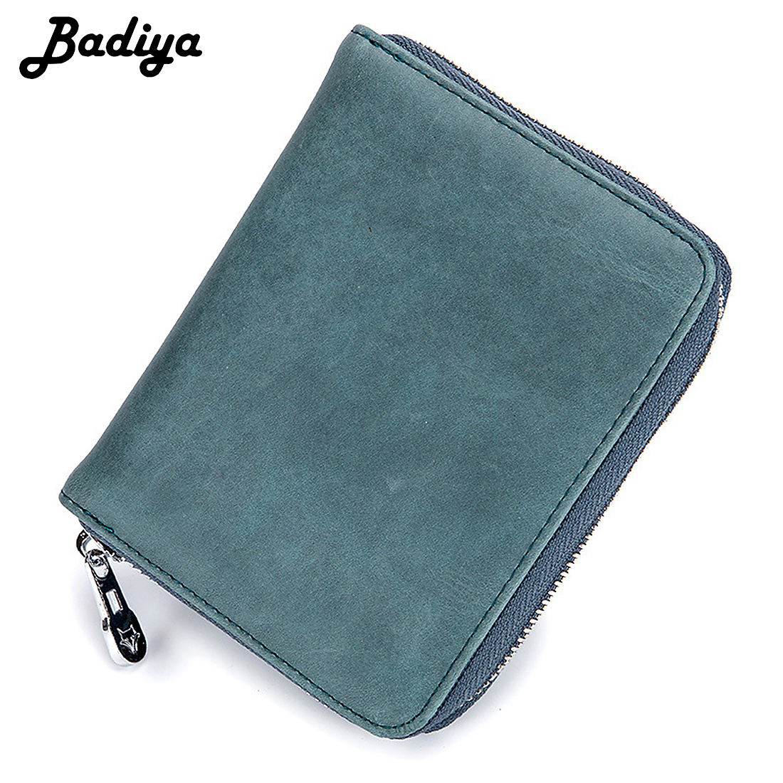Unisex Genuine Leather Zipper Accordion Wallet Multifunctional Travel Passport Card Holder Bag Small Coin Purse