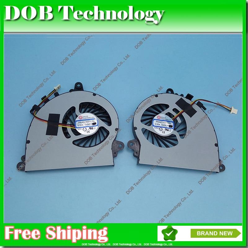 New Original Laptop GPU + CPU Cooling Fan For MSI GS70 GS72 MS-1771 MS-1773 GTX 765M PAAD06015SL N269 CPU GPU Fan 3pin new original cpu cooling fan for msi ex700 gx400 pr600 vr200 vr201 6010h05f pf3 dc brushless laptop cooler radiators cooling fan