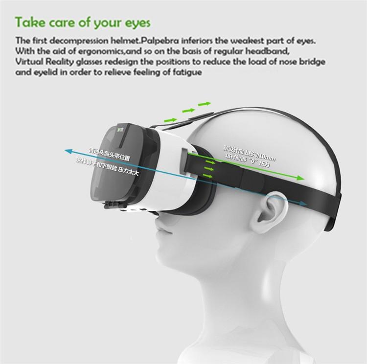 FIIT VR 3D Virtual Reality Video Helmet Cardboard 2.0 VR Glasses Box for 4.0-6.5 inch Smartphone Lightweight Ergonomic Design (9)