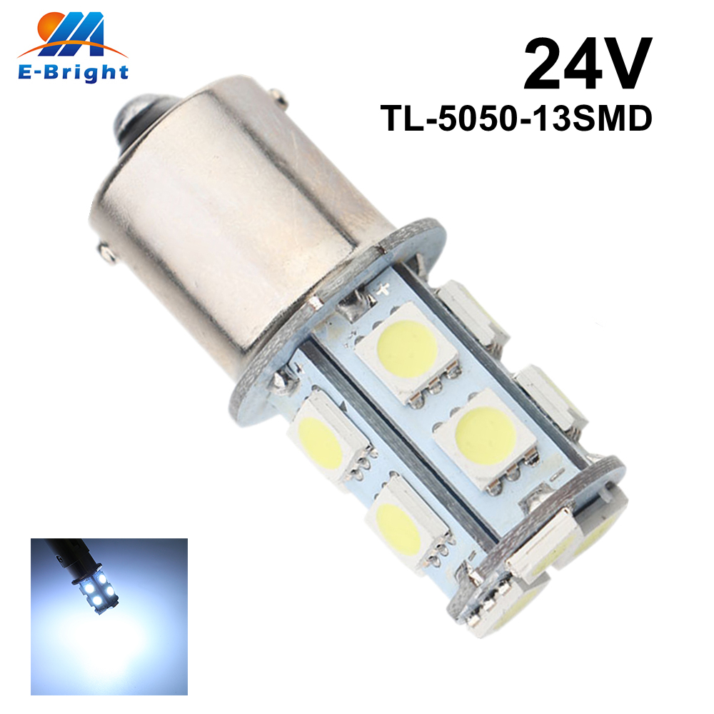 100 pcs 24V 5050 13 SMD 1156 BA15S 1157 BAY15D LED Bulbs Auto Car Light Source Off Road Driving Brake Light Turn Signal LED in Signal Lamp from Automobiles Motorcycles