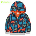 KEAIYOUHUO 2017 Spring Kids Boys Dinosaur Printing Jacket For Boys Windproof Outerwear Coat Boys Hooded Jacket Children Clothes