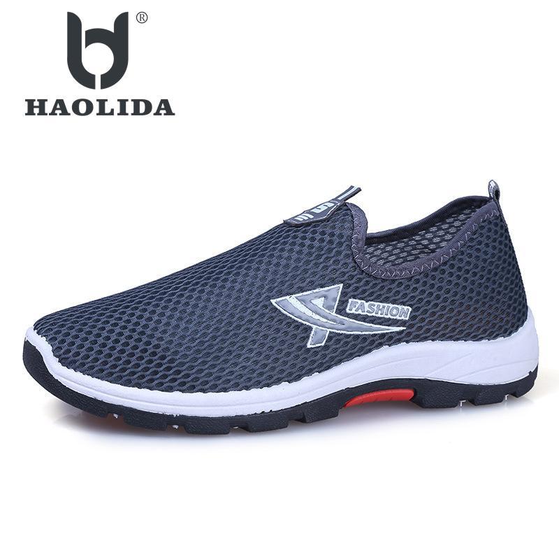 Men Sandals New Brand Casual Shoe Fashion Sneakers Super Breathable Lightweight Fashion Beach Shoes Summer Air Mesh Mens Sandal