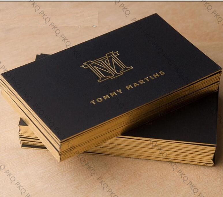 Us 131 1 5 Off 200sheet Custom Business Card Both Double Side Gold Silver Foil Printing Material 500gsm Black Paper High Quality In