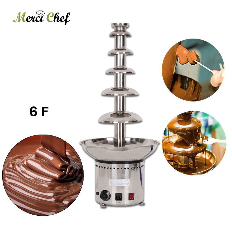 Fast shipping Food Machine 6 Layers Chocolate Fountains Commercial Chocolate Waterfall Machine With Full Stainless Steel manitobah унты keewatin mukluk женск 6 chocolate коричневый